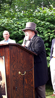 "Jay Purdy, representing the GBPA, told the audience that ""in the battle to preserve the legacy of Gettysburg for future generations, this historic marker is a victory."""
