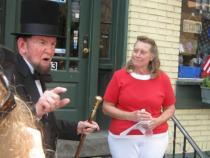 Late James Getty as Abraham Lincoln and GBPA President Barb Mowery