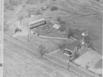 Ariel photo of Daniel Lady Farm in the  1940s